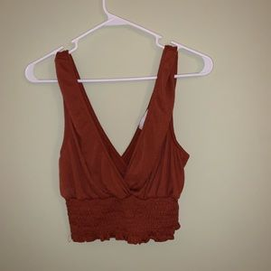 NWT Urban Outfitters smocked crop tank